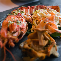 Grilled Lobster, Homemade Coleslaw